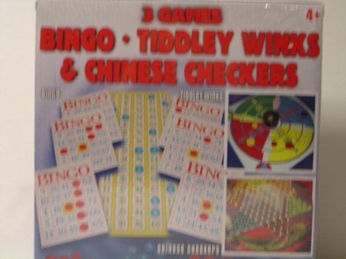 Cardinal 3 Games Bingo Tiddley Winks & Chinese Checkers - 1