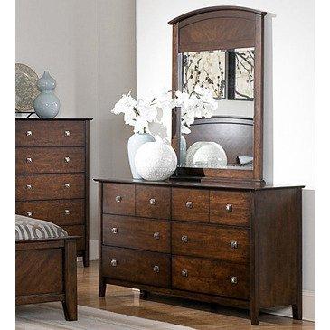 Homelegance Cody 8 Drawer Dresser w/ Mirror in Warm Cherry