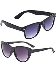 New Stylish UV Protected Combo Pack Of Sunglasses For Women / Girl ( BlackBlackWayfarer-BlackCateye ) ( CM-SUN...