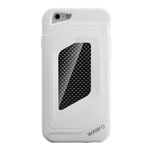 Iphone 6 Case - Wawo Full Protection Carbon Fiber Patch Case For Apple Iphone 6 4.7 Inch (White)