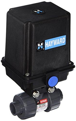 Hayward Eautb105Stv 1/2-Inch Eautb Series Actuated 2-Way True Union Ball Valve With Threaded Fpm Seal
