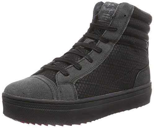 Wrangler Sheena Hi, Sneaker alta donna, Nero (Schwarz (62 Black)), 41