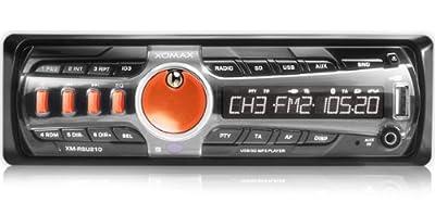 XOMAX XM-RSU210O + Autoradio inkl. MP3 WMA + USB Anschluss SD Kartenslot + AUX-IN und RDS Radio-Tuner + ohne CD Laufwerk und mit verkürzter Einbautiefe (Flash XO) + Single DIN (DIN 1) Standard Einbaugröße + Farbe ORANGE + inkl. Fernbedienung von XOMAX