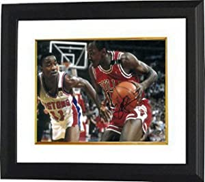 Craig Hodges signed Chicago Bulls 8x10 Photo Custom Framed vs Detroit Pistons (3X 3... by Athlon Sports Collectibles