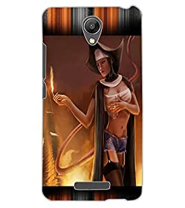 ColourCraft Lovely Lady Design Back Case Cover for XIAOMI REDMI NOTE 2