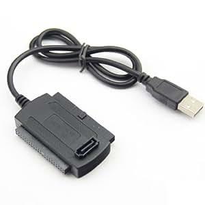 3-in-1 USB2.0-IDE SATA 2.5 3.5ハード ドライブ HD HDD アダプター コンバーター ケーブル ビッド