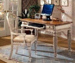 Buy Low Price Comfortable Hillsdale Wilshire Antique White Country Writing Computer Desk (B0017LVW9O)