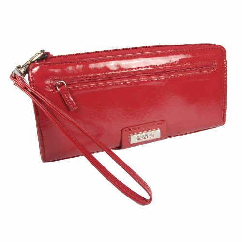Kenneth Cole Reaction Zip Around Expanded Wristlet Clutch Womens Wallet Purse