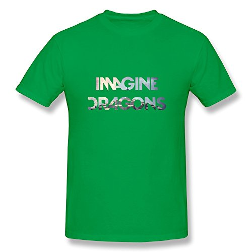 Lule'X Imagine Dragons Boys Tee Shirts,Forestgreen Cotton T-Shirts X-Large