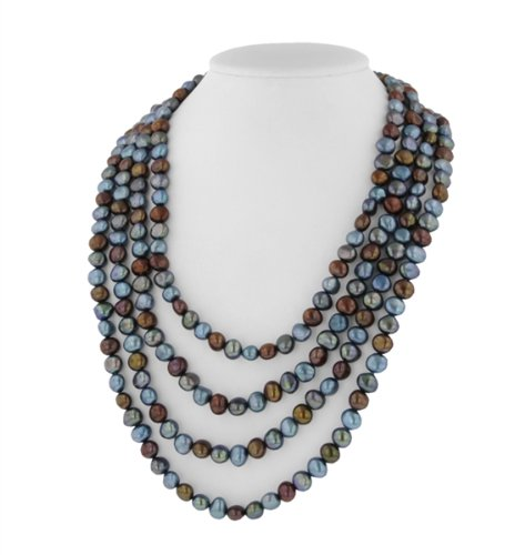 Denim Pearl Necklace