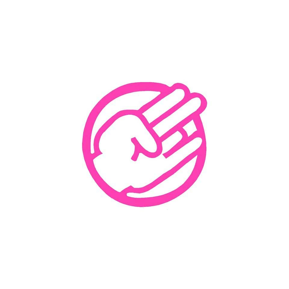 SHOCKER CIRCLE CUSTOM   Vinyl Decal Sticker 5 HOT PINK
