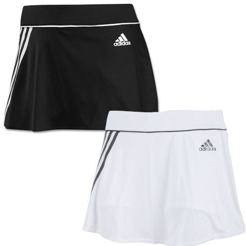 Adidas Womens 3 Stripe Tennis Skort - White/Black