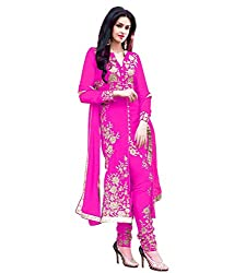 Shreenathji Enterprise Pink Georgette Dress Materials (H103-03_pink_Free size)