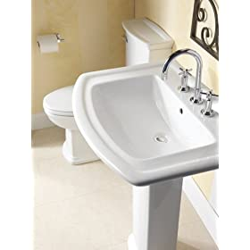 Barclay Washington 550 4-Inch Centerset Vitreous China Pedestal Sink
