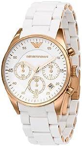 Emporio Armani Women's AR5920 Sportivo Silver Dial Watch