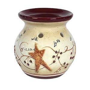 Stars Tart Burner Candle Warmer Holder Ceramic Blonder Home Decor