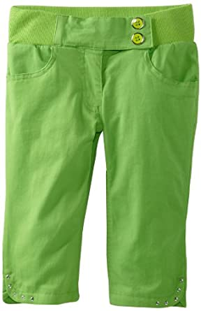 My Michelle Girls 7-16 Ribbed Waistband Bermuda, Green, 7