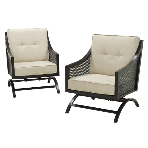 Outdoor Patio Smith U0026 Hawken® Windsor Metal Set Of 2 Motion Club Chairs  Review Part 39
