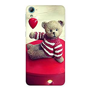Impressive Red Heart Teddy Back Case Cover for HTC Desire 826