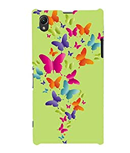 printtech Butterfly Back Case Cover for Sony Xperia Z1::Sony Xperia Z1 L39h