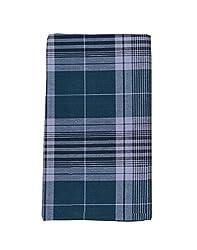 JIS Boutique men's Cotton Checks Lungi (JIS LUNGI F03_Blue)