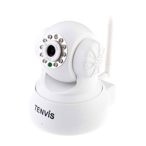 TENVIS JPT3815W Wireless Indoor IP Surveillance Camera WIFI Network Camera with 2-Way Audio and IR-CUT(2013) (White) by WMicroUK