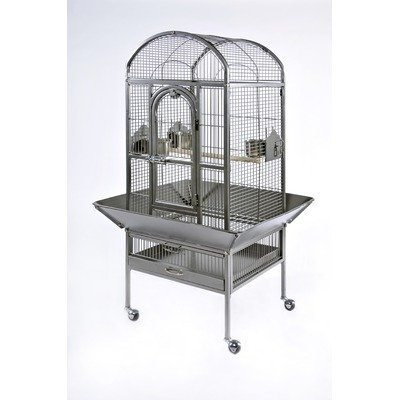 Cheap Signature Series Small Dometop Wrought Iron Bird Cage (3161BLK)