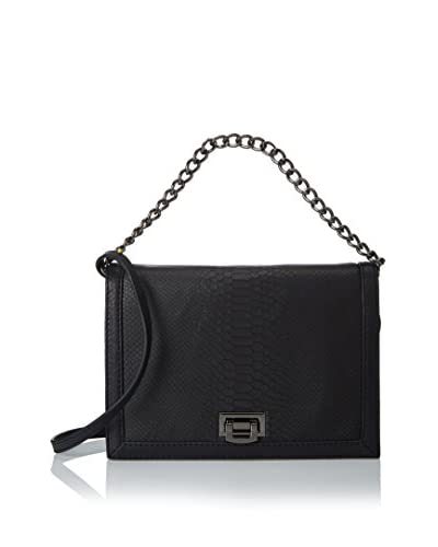 Linea Pelle Collection Women's Brooklyn Shoulder Bag, Black Snake