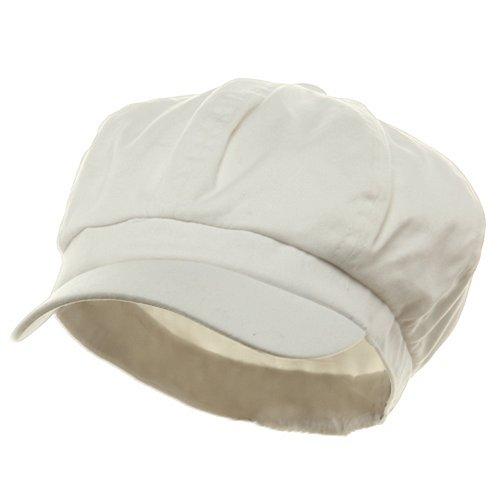 White Cotton Elastic Newsboy Caps (size 7)