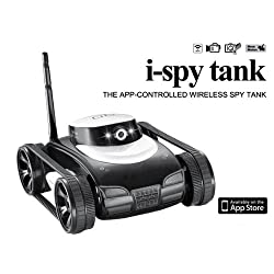 iZKA® i-Spy Tank App-Controlled Wireless Tank With Adjustable Camera For Wireless Video Streaming ideal For Apple iPod, iPad & iPhone - (Go Where it Goes, See What it Sees)