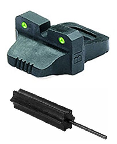 Meprolight The Mako Group Ml34660R.S Tru-Dot® Night Sight Rear Sight - Remington 870, 1100 & 11-87 (Before 2010) + Ultimate Arms Gear Pro Disassembly 3/32 Pin Punch Armorers Gunsmith Tool