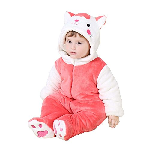 XMiniLife Halloween Thicken Infant Romper,Baby Outfit,Rose Cat