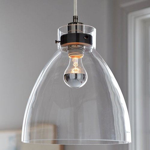 Lightinthebox® Bowl Style 60W E27 Minimalist Glass Pendent Light, Traditional/Classic Ceiling Light Fixture For Dining Room, Living Room With Bulb Included front-182033