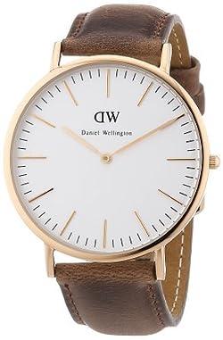 [ダニエルウェリントン] Daniel Wellington 腕時計 Classic Cardiff Rose Gold Men´s 40mm Round Case クォーツ 0110DW [バンド調節工具&高級セーム革セット]【並行輸入品】