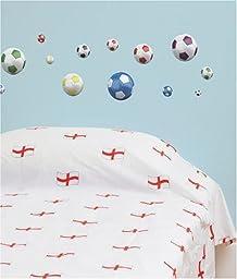 FunToSee Soccer Balls Nursery and Bedroom Wall Decals, Soccer