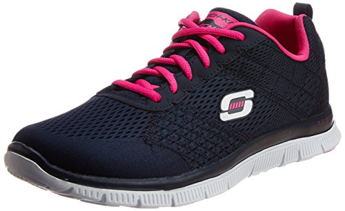 Skechers Flex Appeal - Obvious Choice, Zapatos para mujer, Azul (NVPK), 39 EU