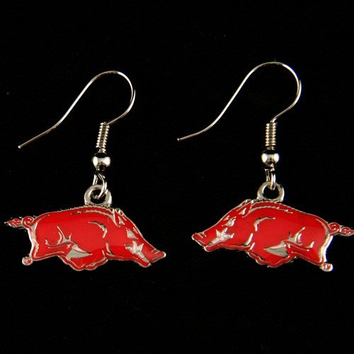 Arkansas Razorbacks - NCAA Team Logo Dangler Earrings at Amazon.com