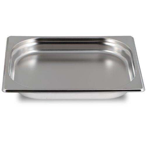Greyfish GN Behälter :: ungelocht :: für Gaggenau / Miele / Siemens Dampfgarer (Edelstahl / Spülmaschinentauglich, Gastronorm 1/2, 40mm tief)