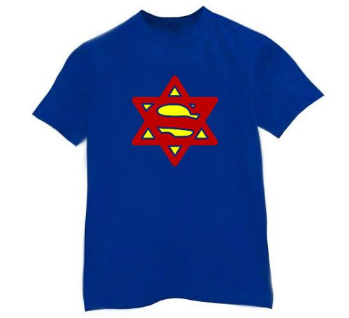 Israeli-T Super Jew Blue T-Shirt