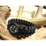 Paracord Survival Bracelet with 20mm Compass Choose Your Color and Size By Bostonred2010