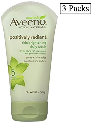 Aveeno Aveeno Active Naturals Skin Brightening Daily Scrub, 5 oz (Pack of 3) from Aveeno