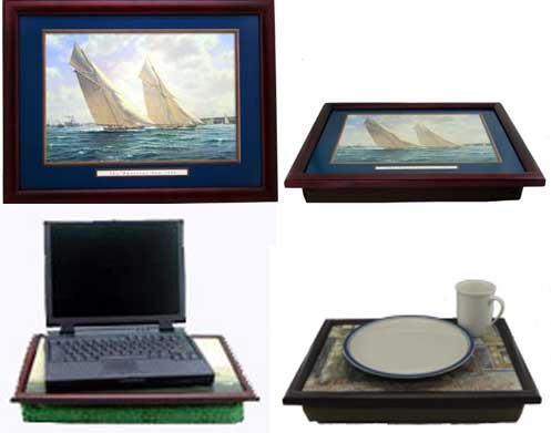 America's Cup: On the Wind Lap Desk - Bean Bag Lap Desk for Laptop Computer or Meals - Practical Gift for Grandpa or Dad