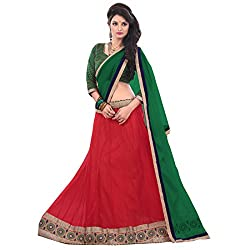 JAY AMBE CREATION MAROON COLOUR NET UNSTITCHED LEHENGA