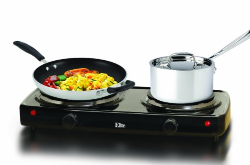 Find Cheap MaxiMatic EDB-302BF Elite Cuisine Electric Double Buffet Burner