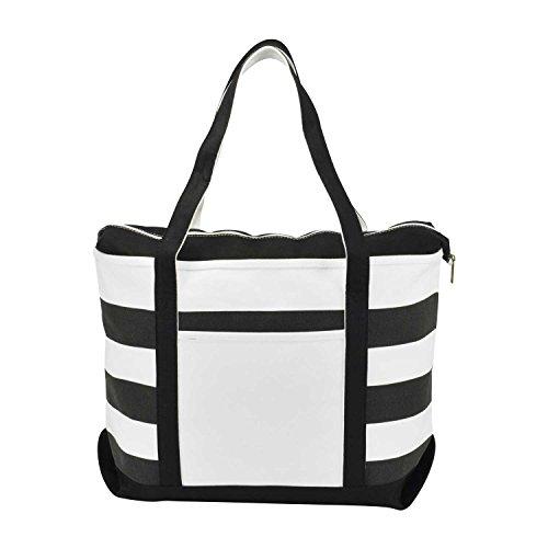 dalix-striped-boat-bag-premium-cotton-canvas-tote-in-black