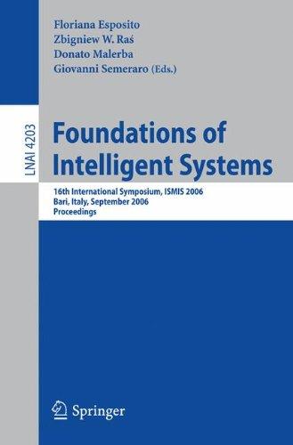 Foundations of Intelligent Systems: 16th International Symposium, ISMIS 2006, Bari, Italy, September 27-29, 2006, Procee