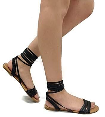Amazon.com: Spirit Moda Olivia-18 Over Toe Strap Sandals