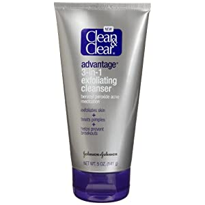 Clean & Clear ADVANTAGE 3-in-1 Exfoliating Cleanser, 5-Ounces