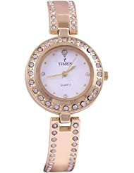Times White Dial Analogue Watch For Women-T-008
