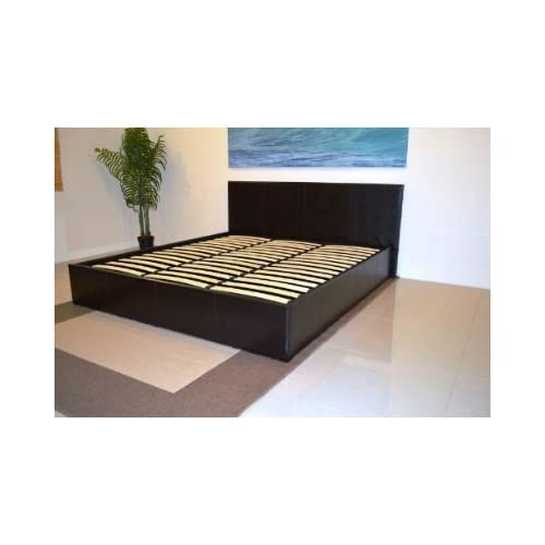 bedsandbeds limited, faux leather Storage Ottoman bed frame's in Black, Brown, White, in single,small double,double...